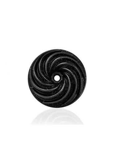 Taç Rüzgar Gülü Döküm Kek Kalıbı Siyah Renkli